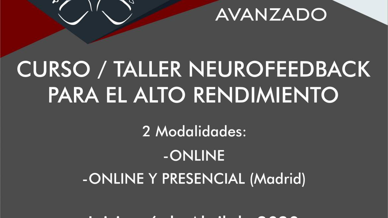 Curso/Taller de Neurofeedback para el Alto Rendimiento Online